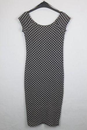 Zara Stretch jurk zwart-wit Katoen