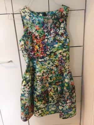 Zara Kleid mit Blumenmuster, Tulpenrock