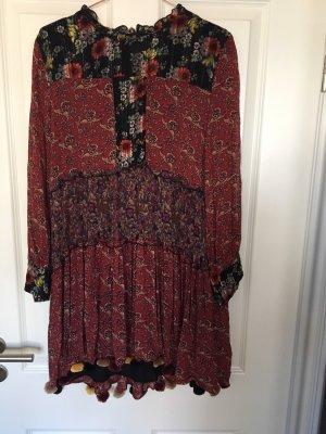 Zara Jurk met lange mouwen veelkleurig Polyester