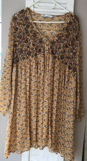 Zara Mini-jurk veelkleurig Gemengd weefsel