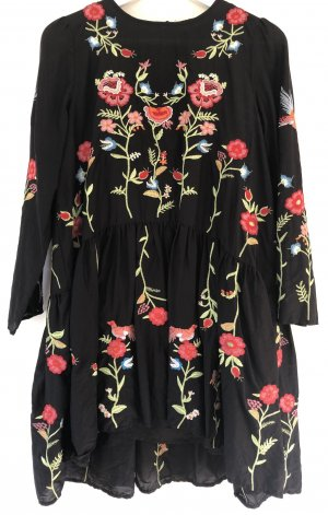 Zara Vestido de manga larga multicolor Algodón