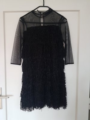 Zara Basic Fringed Dress black