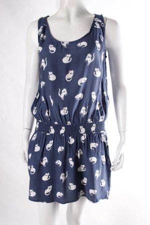 Zara Kleid mit Katzenprint