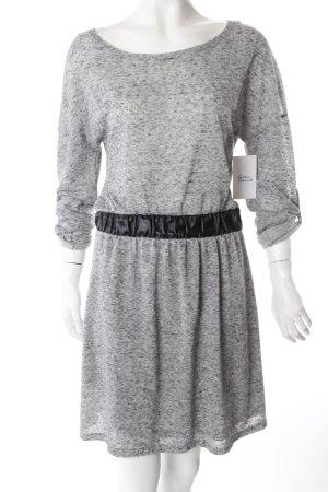 Zara Kleid mit Lederimitat-Details grau-schwarz