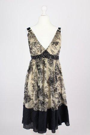 Zara Woman Robe chiffon beige-noir