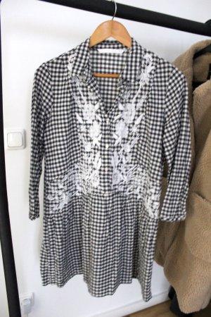 Zara Robe chemise noir-blanc
