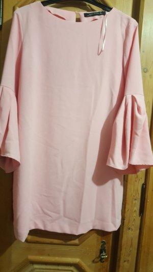 Zara Robe mi-longue rose clair