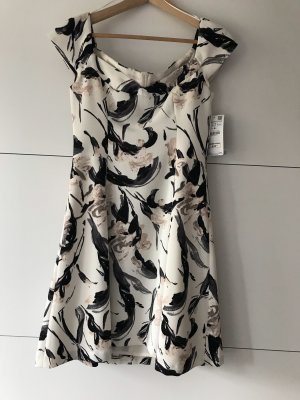 Zara Vestido línea A blanco