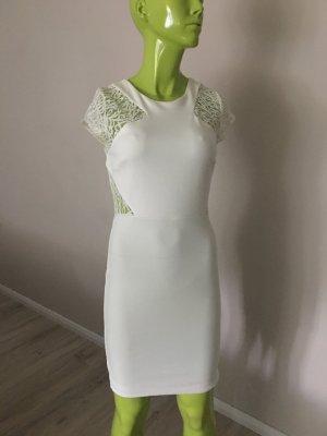 Zara Trafaluc Vestido ceñido de tubo blanco