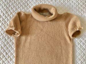Zara Knit Abito di maglia sabbia-color cammello Tessuto misto