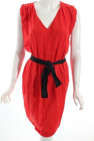 Zara schulterfreies Kleid rot Romantik-Look