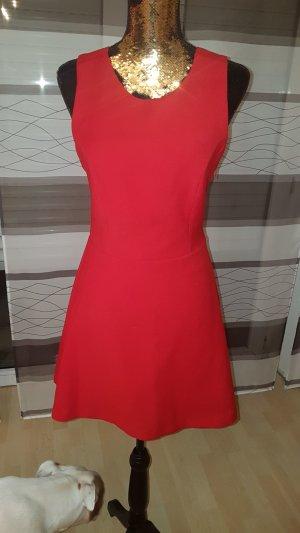 Zara Kleid rot rückenfrei 38