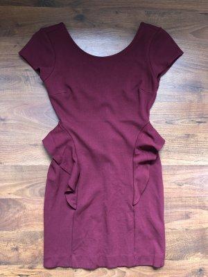 Zara Kleid rot Schößchen
