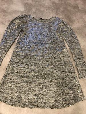 Zara Vestido de tela de jersey color plata-gris claro