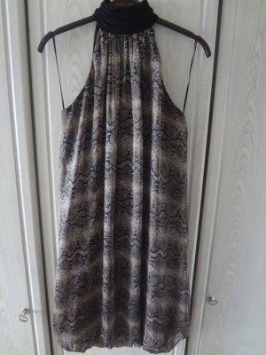 Zara Robe dos-nu noir-gris brun
