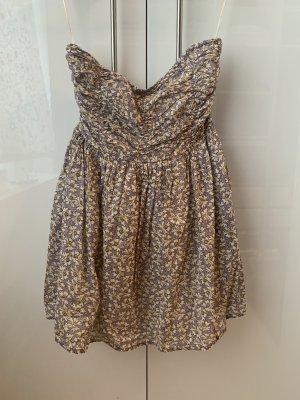 Zara Vestido de un hombro multicolor