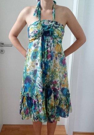 ZARA Kleid Sommerkleid Blumenmuster mehrfarbig