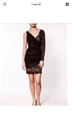 ZARA Kleid Spitzenkleid lace dress schwarz Gr. M