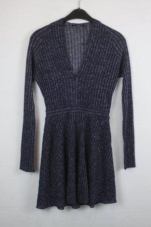 Zara Kleid Strickkleid Gr. S dunkelblau mit silber Applikationen (18/5/296)