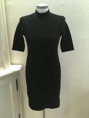 Zara Abito di maglia nero Tessuto misto