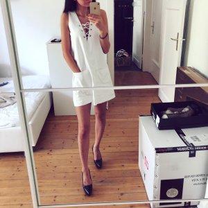 ZARA Kleid Tunika Schnürung Lace Up Bluse Top