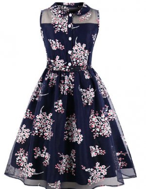 Zara Kleid Vintage Look Gr. S