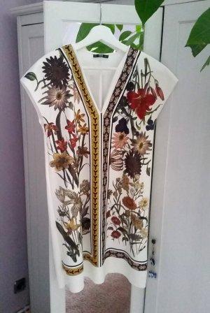 Zara Kleid weiß Blumen Gr. S 36 Blogger Neu