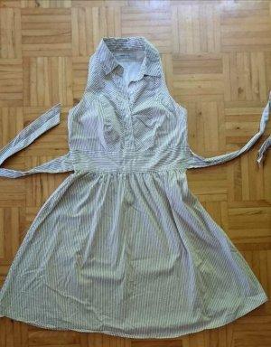 Zara Kleid weiß-braun gestreift Gr. S
