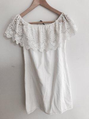 Zara Kleid weiß mit Spitze