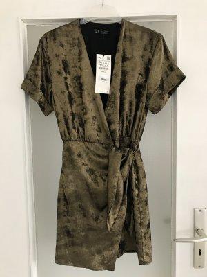 Zara Kleid Wickelkleid mit Glitzer S