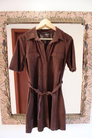 Zara Abito blusa camicia marrone scuro