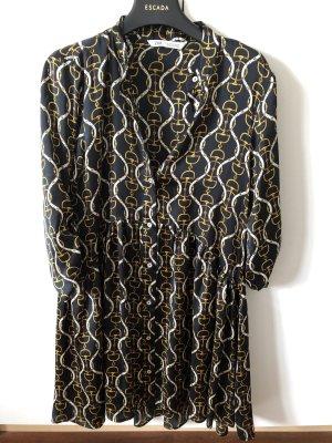 Zara Abito blusa camicia nero-oro