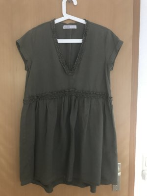 Zara Robe courte vert olive
