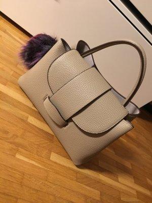 ZARA - kleine Cityhandtasche mit Pompon