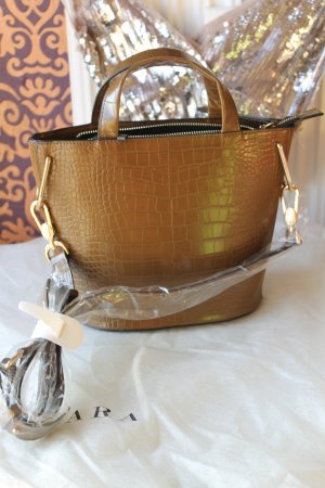 Zara Shopper bronze-colored-gold-colored polyurethane
