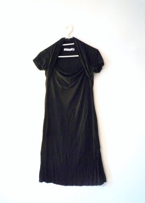 ZARA *Kleines Schwarzes* Kurzarmkleid, Überschlag, Gr. 42