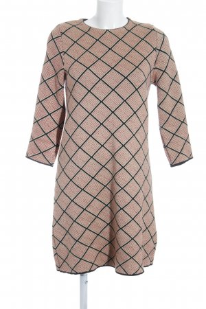 Zara Knit A-Linien Kleid grafisches Muster Business-Look