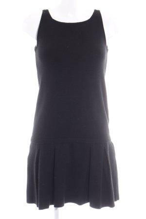 Zara Knit A-Linien Kleid schwarz Paris-Look