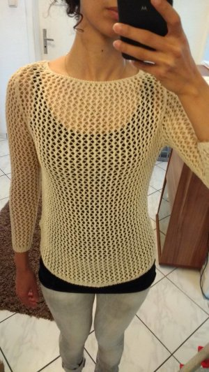 Zara Knit beige Netoberteil