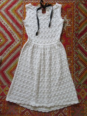 Zara Knit Knitted Dress multicolored cotton