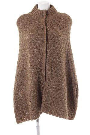 Zara Knit Capa marrón claro look casual
