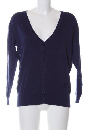 Zara Knit Cardigan blau Casual-Look