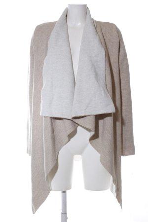 Zara Knit Cardigan bronzefarben-hellgrau meliert Casual-Look