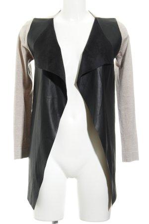 Zara Knit Cardigan beige-schwarz Casual-Look