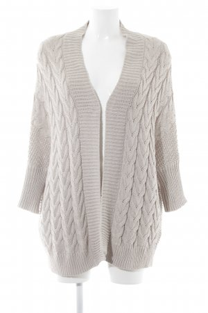 Zara Knit Cardigan beige Zopfmuster Casual-Look