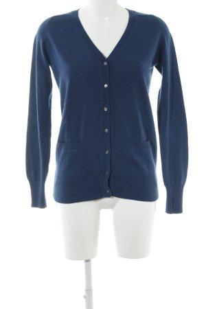 Zara Knit Cardigan blau Kuschel-Optik