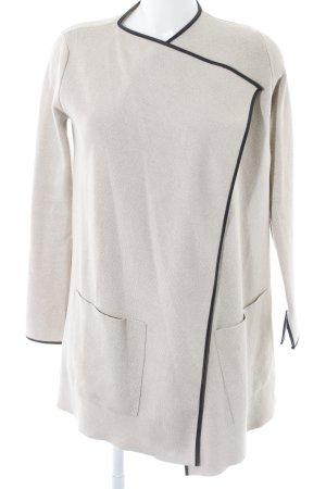 Zara Knit Cardigan creme-schwarz Webmuster klassischer Stil