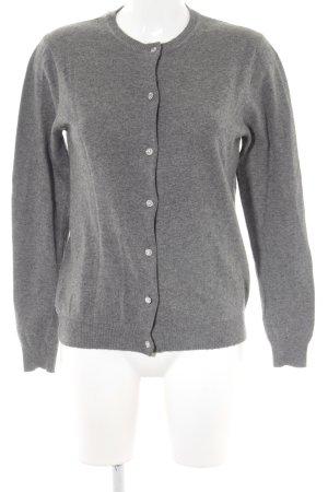 Zara Knit Cardigan dunkelgrau Business-Look