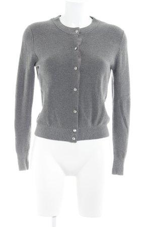 Zara Knit Cardigan dunkelgrau-grau meliert Elegant