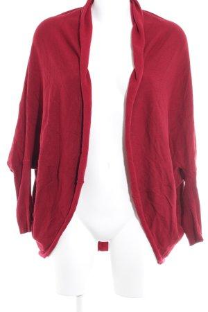 Zara Knit Cardigan dunkelrot Casual-Look